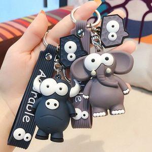 Animal Cute Cartoon portachiavi 5.5cm Turtle Elephant PVC portachiavi giocattolo 2hmd #