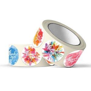 Floral auto-adhésif Thank You Stickers Seal Étiquette autocollant d'enveloppe de cadeau d'affaires Invitation bouteille Décore Multi Purpose de D2