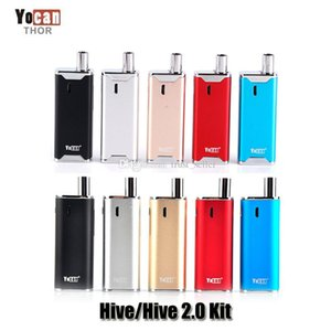 100% Original Yocan Hive 2.0 Kit Wax Oil 2 in 1 Vaporizer Kits 650mah Battery Thick Oil Atomizer Glass Tank Authentic