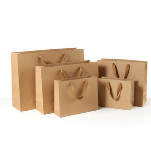 1pc Senior Kraft Paper Bags Fashion Clothes Bags Wedding Chocolate Cake Packing Paper Boxes Christmas Party Supplies