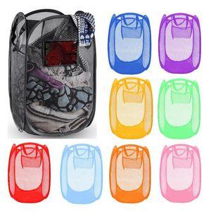 접이식 메쉬 세탁 바구니 의류 스토리지 세탁 의류 세탁 바구니 빈 바구니 메쉬 보관 가방 120pcs T1I1807 최대 공급