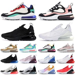 nike air max 270 react airmax 270s hommes chaussures de course femmes formateurs Triple blanc noir Cactus Light bone Bauhaus Plum Chalk Grey hommes respirant baskets de sport