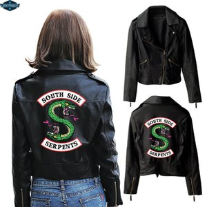 New Riverdale PU Printed Logo Southside Riverdale Serpents Jackets Women Serpents Streetwear Leather Jacket