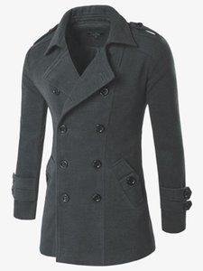 Winter Wool Jacket Men's High-quality Wool Coat casual Slim collar coat Men's long cotton collar trench Outwear