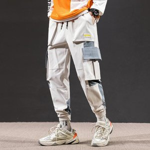 Erkekler yeni hiphop Harajuku spor pantolon toptan gündelik moda caddesi çocuk spor pantolon koşu cebi overalls