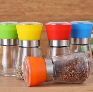 Соль и Перец Grinder Shaker Mill Vintage стекло Pepper Shaker Измельчители специй Перец Контейнер Jar LJJK2377