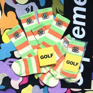calze HIN7a Moda ricamato calze festa marchio golfWANG ricamo Music Limited puro cotone elegante stile hip hop Via amore