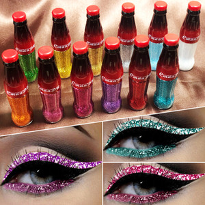 Full Send Makeup Liquid Eyeliner WaterProof Easy to Wear Long Lasting Colorful Sequins Shimmer Sparkling Glitter Eye Liner