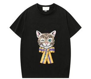 Explosion summer stylist cartoon embroidery T-shirt men and women with the same paragraph short-sleeved T-shirt polo shirt S-XXL F053#