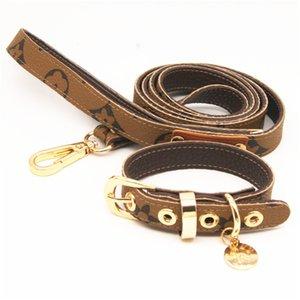 Flower Dog Leash Set Fashion Pet Collar Leash Puppy Leather Leashes Teddy Schnauzer Pet Supply Outdoor Cat Supplies