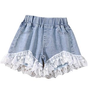 2020 new Summer lace baby girls shorts denim girls jeans fashion kids shorts baby shorts kids designer clothes girls clothes B1686