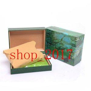XX 2020 Gift Box migliore qualità di lusso verde scuro Guarda caso per il Rolex libretto scheda Tag e carte in inglese orologi svizzeri Scatole 729