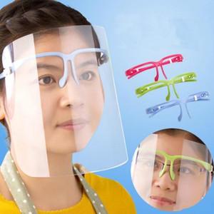 미국 주식, 명확한 보호 얼굴 방패 마스크 플라스틱 화면 전체 얼굴 보호 격리 마스크 안티 - 안개 오일 보호 마스크 방패 모자