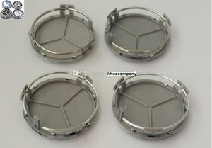 Car Styling ABS-Kunststoff Chrom 75mm Auto-Rad-Mitte-Naben-Kappen-Abdeckung Auto-Emblem-Abzeichen-Covers für Benz W204 W211 W203 W210 W124