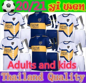 Adultos y niños 20 2021 Boca Juniors DE ROSSI fútbol Jersey kits de inicio 20 21 GAGO OSVALDO CARLITOS TEVEZ Away chicos blancos de la camisa de fútbol