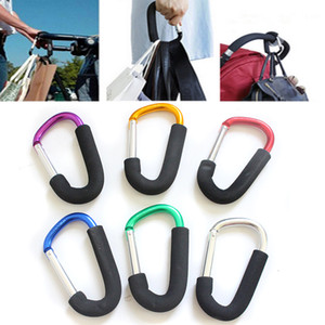 14x8cm Sponge Colorful Aluminum Alloy D Shape Climbing Button Carabiner Keychain Outdoor Roller Skating Shoes Buckle Supermarket Hooks