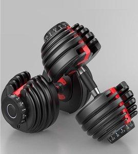 2020 US STOCK Peso ajustáveis halteres 5-52.5lbs exercícios de fitness halteres tonificar a sua força e construir seus músculos