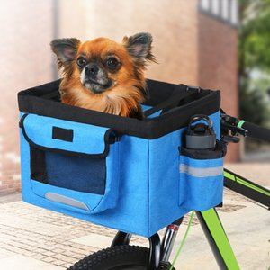 Pet Dog Cat Rabbit Bicycle Front Carrier Bag Basket Puppy Small Animal Travel Camping Foldable Tote Bag Bike Carrier Seat Bags