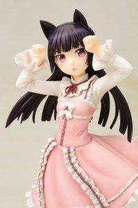 Cat Anime figura sexy Rosa Kuroneko Sweet Lolita Ruri Gokou bambola ragazza carina Oreno Imouto Ga PVC Modello ragazza regalo Giocattolo 22 centimetri LELAKAYA MX200727
