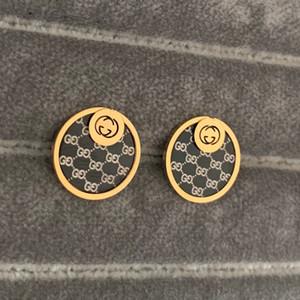 Nuovo superiore Balck oro di disegno d'avanguardia orecchini in acciaio inox Silver Gold Rose G Stamp dell'orecchio dei monili borchie per le donne del cerchio prezzo all'ingrosso