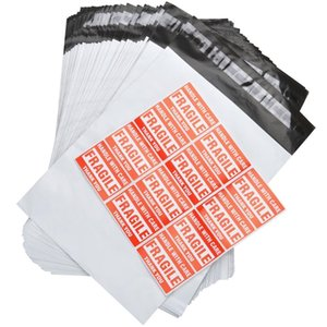 """Toptan-Self Adhesive ile Bags Nakliye 152 * 228mm Su geçirmez ve Gözyaşı geçirmez Posta Çanta 6x9"""" Beyaz-Gri Poly Mailer Zarflar"""