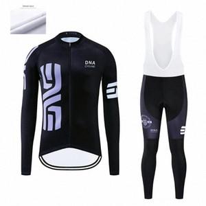 DNA велоспорт Мужской зима задействуя Джерси наборов Ropa Ciclismo термического руна Одежда Wear велосипед Брюки с гелевой проложенной Комой #