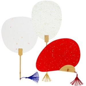 Últimas ouro preto vermelho branco chinês Fan Mão Thicken Duplo Rice Paper Fan DIY pintura tradicional Artesanato de bambu Handle Fans