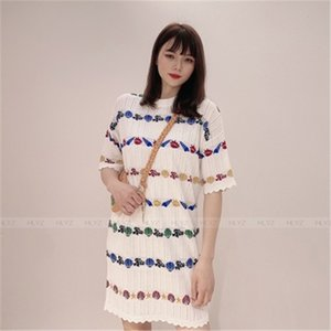 2020 New Arrivals Pattern Print Patchwork Summer Shirt for Girls O-neck Female Blouses Fashion Sweet Women's Tops