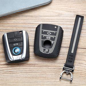luckeasy leather key cover for bmw i3 i8 2013 2016 2017 2018 Car Key bag case wallet holder key2y