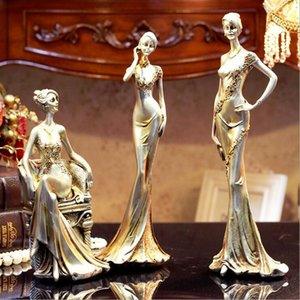 Classical White Elegant Lady Statue Sculptures Beauty Figure Craft Gift Ornament Accessories for Home Office Decor