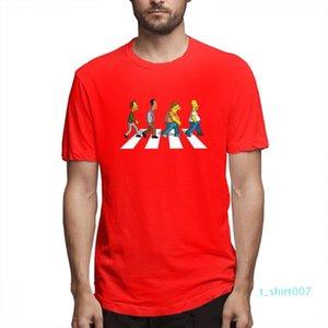 Les Simpsons Designer Fashion Shirts Hommes chemise manches courtes Les Simpsons T-shirts imprimés causales Hommes Hauts coton c5304t07