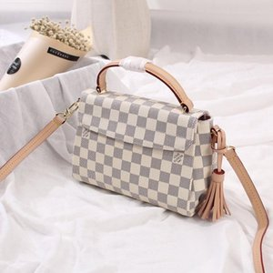 New Arrival Fashion Style Women Bag Leather Handbags Top Handle Messenger Bags High Quality Plaid Design Luxury Vintage Hand Bag Drop Ship