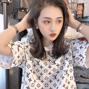 """2020 yeni Koreli summerT instagram kısa kollu tişört kız ve kadınlar """"ın yaz gevşek bestie bluz"""