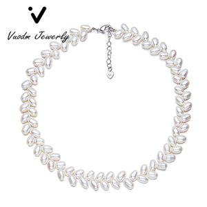 Beaded Necklaces of Natural Pearl Choker Necklace New Design for Lady Wedding Vacation Party Jewelry Gift