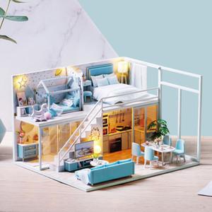 Bricolage Doll réunion Meubles Votre Sweet Life miniature Familles Mignon Maison Casinha De Boneca Dollhouse Jouets Y200414