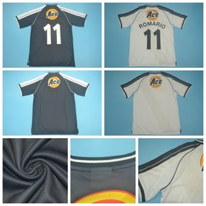 2000 2001 ретро футбол Джерси Vintage черный белый ROMARIO DEDE Луизао PAULO MIRANDA Жуниньо Донизете MATCH WORN Футбол рубашка наборы D-J-M