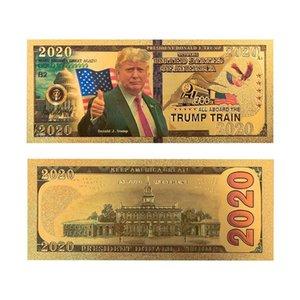 Trump 2020 Discours Collection Pièce de monnaie américaine Or fournitures électorales Banknote feuille d'or Pièce commémorative Creative Coin DHF195