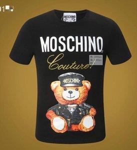 2020 19ss pamuklu tişört moda kısa kollu pamuklu streç rahat NakliyeMoschinoErkekler Kadınlar tişört dod0571