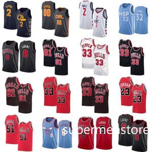 Collin 2 Sexton Basketball Jersey Mens City John 2 Wall Karl-Anthony 32 Towns Zach 8 LaVine Scottie 33 Pippen Shirt