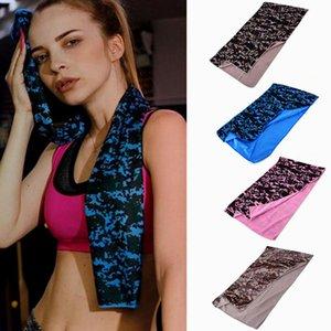 Toalha Cold Summer Sports Ice toalha de arrefecimento Camouflage Ice toalha de arrefecimento Outdoor Sports Yoga Toalhas DHD494