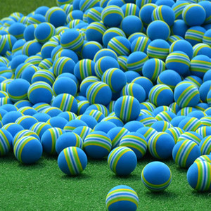 Pelotas de golf esponja del arco iris pelota de entrenamiento de práctica Bolas suministra pelota de golf cubierta con 2 colores de Golf Accesorios envío