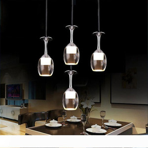 Indoor lighting acrylic led Pendant lamp bar Dining room lamp LED light 3w wine glass shape creative brief lamp Christmas lights
