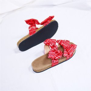 Women Sandals Silk Bow Flat Shoes Ladies Beach Shoes Slipper Outdoor Fashion Student Home Casual Slippers 2020 Summer