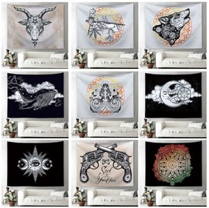 The latest 150X130cm printed home tapestry wall blanket tapestry printed home wall hanging mural beach towel cover blanket