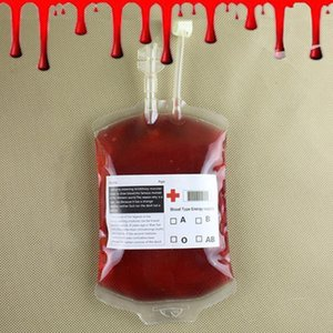 Saco de Sangue bolsa de sangue Halloween Drink Limpar Halloween Food Grade PVC Bag The Vampire Diaries Cosplay Props Decoração de Halloween suprimentos 350ml