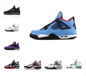 Los últimos 4s jumpman gato negro 4 zapatos para hombre de baloncesto Corte púrpura Bred Cactus Jack pino verde leales hombres azules mujeres zapatilla de deporte de los deportes atléticos