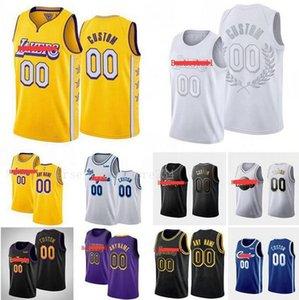 2020 Пользовательские мужчины Джерси ЛосАнджелесЛейкерс23Джеймс Любое имя номер Swingman баскетбол Джерси