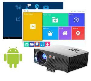 GP80 GP80UP LED Mini Taşınabilir Projektör Ev Sinema Destek Full HD 1080P 4K Opsiyonel Android Bluetooth Kablosuz WIFI Beamer 5adet DHL