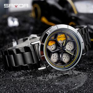 High-End New Style Stylish Watch Mens Wheel Quartz Mens Watch Student Steel Belt Waterproof Rotating Watch