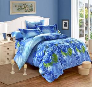 3D Çiçek Nevresim Yatak Seti 3PCS Çiçek Yatak Çarşafları Çift Nevresim Comforter Yastık King Size Ev Yatak Örtüsü I